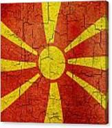 Grunge Macedonia Flag Canvas Print