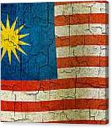 Grunge Malasia Flag  Canvas Print