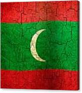 Grunge Maldives Flag Canvas Print