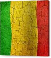 Grunge Mali Flag Canvas Print