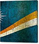 Grunge Marshall Islands Flag Canvas Print