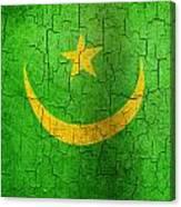 Grunge Mauritania Flag Canvas Print