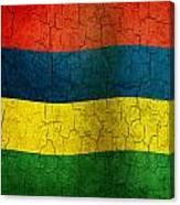Grunge Mauritius Flag Canvas Print