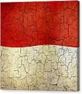 Grunge Monaco Flag Canvas Print