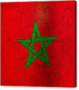 Grunge Morocco Flag Canvas Print