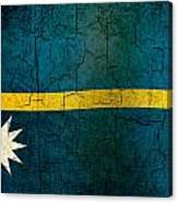 Grunge Nauru Flag Canvas Print