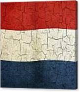 Grunge Netherlands Flag Canvas Print