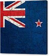 Grunge New Zealand Flag Canvas Print