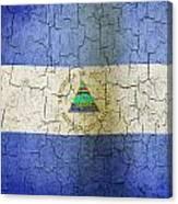 Grunge Nicaragua Flag Canvas Print