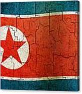 Grunge North Korea Flag Canvas Print