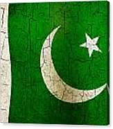 Grunge Pakistan Flag Canvas Print