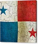 Grunge Panama Flag Canvas Print