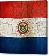 Grunge Paraguay Flag Canvas Print