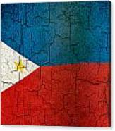 Grunge Philippines Flag Canvas Print