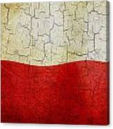 Grunge Poland Flag Canvas Print