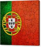 Grunge Portugal Flag Canvas Print