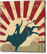 Grunge Rodeo Poster,vector Canvas Print