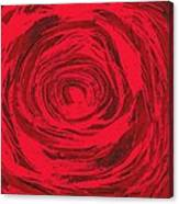 Grunge Rose Canvas Print