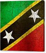 Grunge Saint Kitts And Nevis Flag Canvas Print