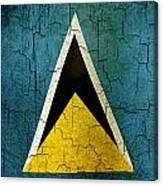 Grunge Saint Lucia Flag Canvas Print
