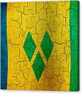 Grunge Saint Vincent And The Grenadines Flag Canvas Print