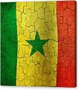 Grunge Senegal Flag Canvas Print