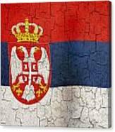 Grunge Serbia Flag Canvas Print