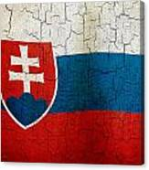 Grunge Slovakia Flag Canvas Print