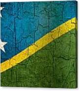 Grunge Solomon Islands Flag Canvas Print