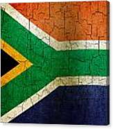 Grunge South Africa Flag Canvas Print