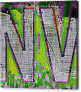 Grunge Style Denver Sign Canvas Print