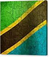 Grunge Tanzania Flag Canvas Print