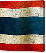 Grunge Thailand Flag Canvas Print