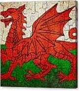 Grunge Wales Flag Canvas Print
