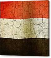 Grunge Yemen Flag Canvas Print