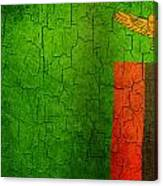 Grunge Zambia Flag Canvas Print