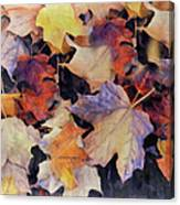 Grungy Autumn Leaves Canvas Print