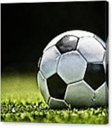 Grungy Grainy Soccer Ball E64 Canvas Print