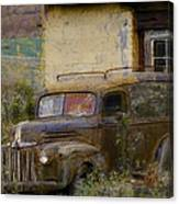 Grungy Vintage Ford Panel Truck Canvas Print
