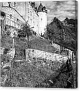 Gruyeres Castle Bw Canvas Print