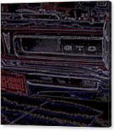 Gto Car Art Canvas Print