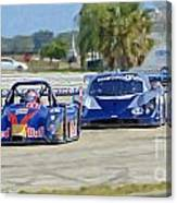 Gtp Prototypes Taking 4 At Sebring Canvas Print