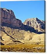 Guadalupe Peaks Canvas Print