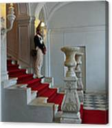 Guard At Catherine Palace In Russia Canvas Print