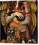 Guardian Angel Of Dogs Canvas Print