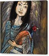 Guardian Angel Of Pheasants Canvas Print
