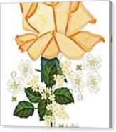 Guardian Golden Rose Canvas Print