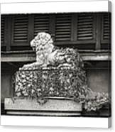 Guardian In Black And White Canvas Print