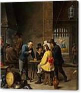 Guardroom With The Deliverance Of Saint Peter Canvas Print