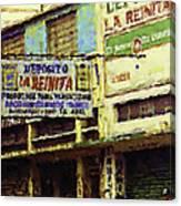 Guatemalan Street Billboard Canvas Print